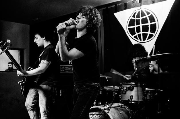 La URSS en concierto, en el Rock Palace en Madrid, presentando el disco Sonidos de un derrumbe. Junio 2012