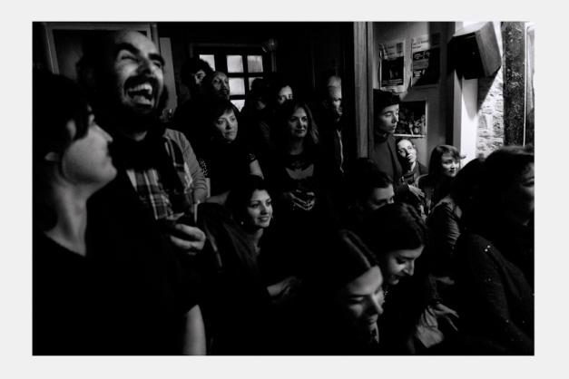 """Ambiente durante el concierto        Concierto """"Marcos Pin Factor E-Reset""""        Café Free Jazz """"El puente"""" 21/02/2013"""