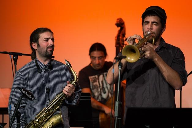 """Ton Risco Quinteto en la presentación de """"Impronunciable"""". Zona C, Santiago de Compostela. 13-11-2013"""